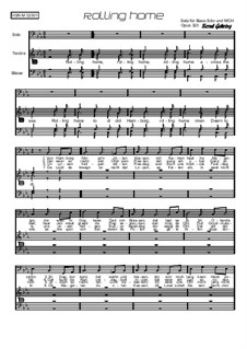 Rolling home: For male choir, Op.323 by folklore