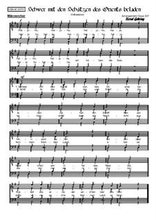 Schwer mit den Schätzen des Orients beladen: For male choir, Op.337 by folklore