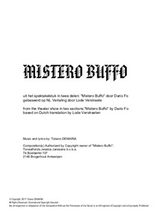 Mistero Buffo: Mistero Buffo by Tormy Van Cool