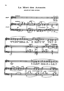 Пять поэм Бодлера, L.64: No.5 La mort des amants by Клод Дебюсси
