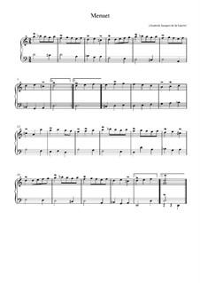 Менуэт ре минор: Менуэт ре минор by Элизабет Жаке де ла Герр