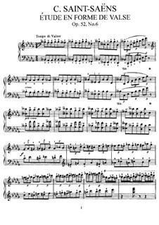 Шесть этюдов, Op.52: Этюд No.6 by Камиль Сен-Санс