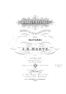 Barden-Klänge (Bardic Sounds), Op.13: No.1-12 by Иоганн Каспар Мерц