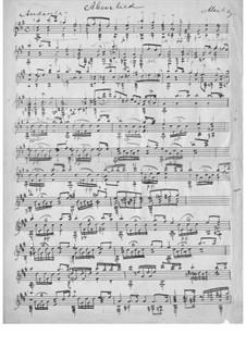 Barden-Klänge (Bardic Sounds), Op.13: No.3 Abendlied by Иоганн Каспар Мерц