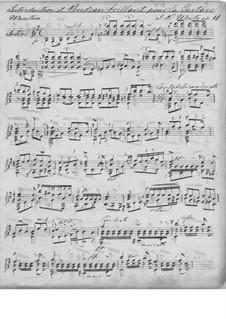 Интродукция и блестящее рондо, Op.11: Для гитары (рукопись) by Иоганн Каспар Мерц