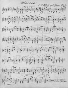 Cyanen als Folge der Nachtviolen, Op.5: No.2 Marsch by Иоганн Каспар Мерц