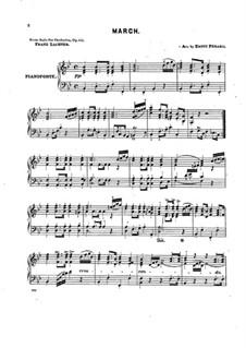Сюита No.1 для оркестра, Op.113: Марш для фортепиано by Франц Пауль Лахнер