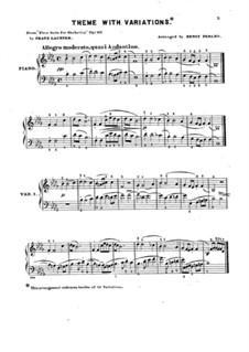 Сюита No.1 для оркестра, Op.113: Тема с вариациями для фортепиано by Франц Пауль Лахнер