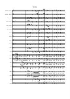 Missa Sanctae Maria Magdalenae: Gloria by Джованни Феличе Санчес