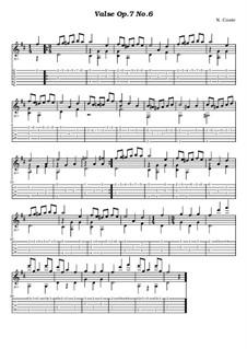 Шестнадцать вальсов: Вальс No.6, для гитары by Иоганн Штраус (младший)