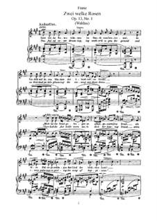 Шесть стихотворений, Op.13: Шесть стихотворений by Роберт Франц