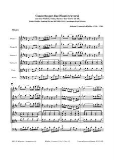 Концерты для двух флейт с оркестром, Op.3: No.1 ре мажор by Иоганн Фридрих Клёфлер