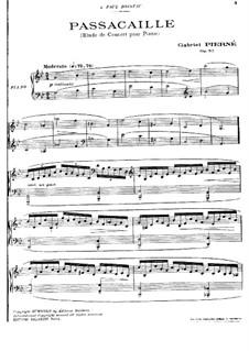 Пассакалья, Op.52: Пассакалья by Габриэль Пьерне