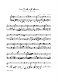 Сюита для клавесина ре мажор, RCT 3: Les tendres plaintes by Жан-Филипп Рамо
