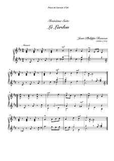 Сюита для клавесина ре мажор, RCT 3: Le lardon by Жан-Филипп Рамо