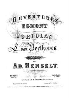 Увертюра Кориолан, Op.62: Версия для фортепиано by Людвиг ван Бетховен