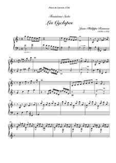 Сюита для клавесина ре мажор, RCT 3: Les cyclopes by Жан-Филипп Рамо