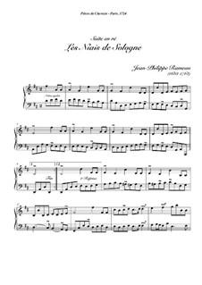 Сюита для клавесина ре мажор, RCT 3: Les niais de sologne by Жан-Филипп Рамо