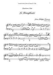 Сюита для клавесина ля минор, RCT 5: La triomphante by Жан-Филипп Рамо