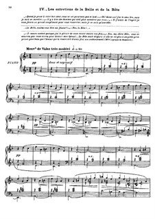 Матушка Гусыня. Сюита, M.60: No.4 Беседы красавицы и чудовища, для фортепиано by Морис Равель