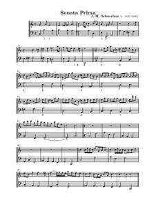 Шесть сонат для скрипки и бассо континуо: Соната No.1 до мажор by Иоганн Генрих Шмельцер