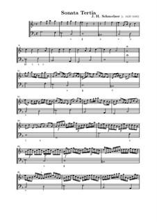 Шесть сонат для скрипки и бассо континуо: Соната No.3 соль минор by Иоганн Генрих Шмельцер