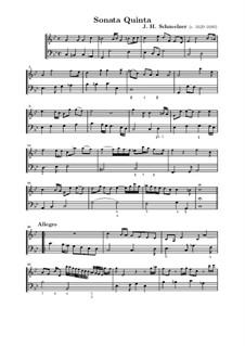 Шесть сонат для скрипки и бассо континуо: Соната No.5 до минор by Иоганн Генрих Шмельцер