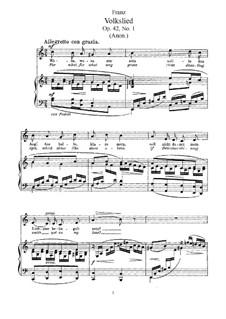 Шесть песен, Op.42: Сборник by Роберт Франц