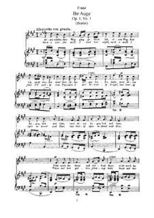 Двенадцать песен, Op.1: Двенадцать песен by Роберт Франц
