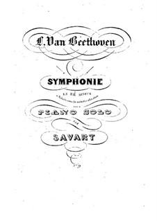 Вся симфония: Версия для фортепиано by Людвиг ван Бетховен