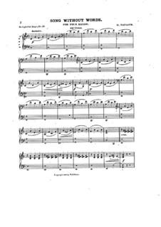 Песня без слов для фортепиано в четыре руки: Песня без слов для фортепиано в четыре руки by Генри Майлат