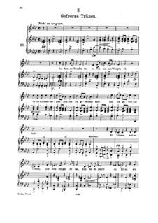 No.3 Застывшие слёзы: Клавир с вокальной партией by Франц Шуберт