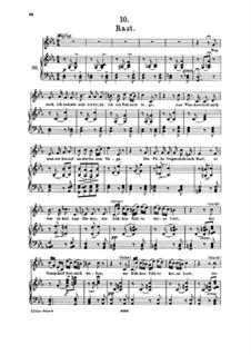 No.10 Отдых: Клавир с вокальной партией by Франц Шуберт