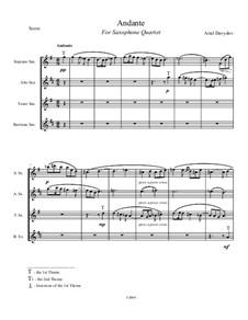 Саксофон квартет No.1, Andante: Саксофон квартет No.1, Andante by Ариэль Давыдов