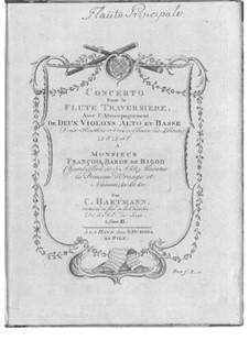 Концерт для флейты с оркестром No.2 до мажор: Концерт для флейты с оркестром No.2 до мажор by Christian Karl Hartmann