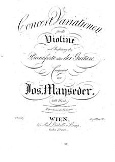 Концертные вариации для скрипки и гитары (или фортепиано): Концертные вариации для скрипки и гитары (или фортепиано) by Йозеф Майзедер