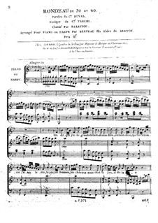Le Trente et quarante. Rondeau 'On dit que j'ai': For voice and piano (or harp) by Angelo Tarchi