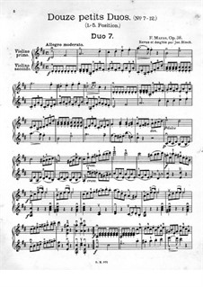 Двенадцать маленьких дуэтов для двух скрипок, Op.38: Дуэты No.7-12 by Жак-Фереол Мазас