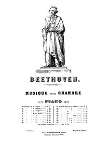 Квартет No.4 до минор: Версия для фортепиано by Людвиг ван Бетховен