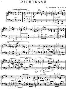 Три дифирамба, Op.10: Дифирамб No.3 by Николай Метнер