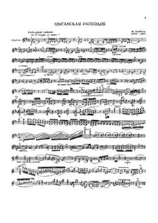 Цыганская рапсодия, M.76: Для скрипки и фортепиано by Морис Равель