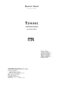 Цыганская рапсодия, M.76: Для скрипки с оркестром by Морис Равель