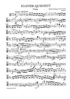 Фортепианный квинтет ми-бемоль мажор, Op.44: Партия альта by Роберт Шуман