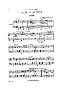 Valse silhouette. Etude, Op.517: Valse silhouette. Etude by Charles Fradel