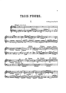Три фуги, Op.12: Фуга No.1 by Александр Копылов