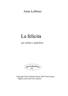 La Felicita: La Felicita by Alain Lefebure