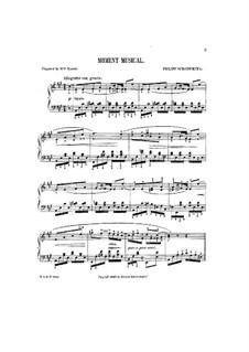 Музыкальный момент: Музыкальный момент by Филипп Шарвенка