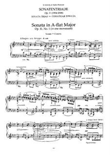 Сонатная Триада для фортепиано, Op.11: No.1 Соната ля-бемоль мажор by Николай Метнер