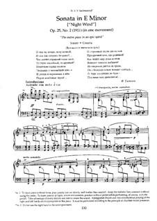 Две сонаты для фортепиано, Op.25: No.2 Соната 'Ночной ветер' by Николай Метнер