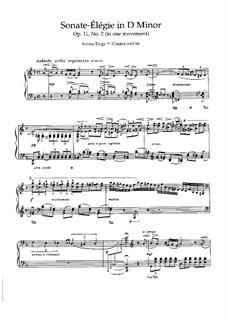 Сонатная Триада для фортепиано, Op.11: No.2 Соната-элегия ре минор by Николай Метнер
